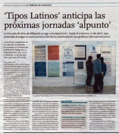 2014-03-19 - La Tribuna - Artículo tipografía