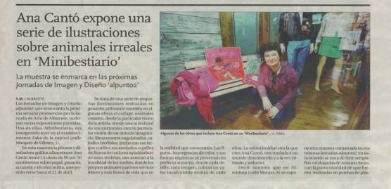 2014-03-22 - La Tribuna - Exposición Ana Cantó