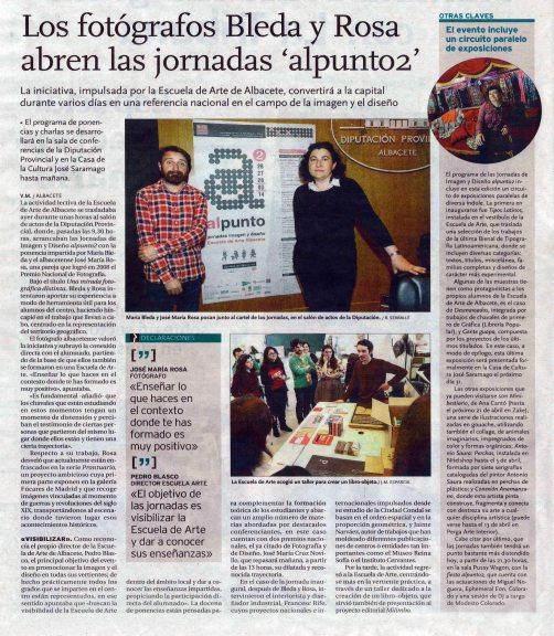 2014-03-27 - La Tribuna - Jornadas Alpunto2