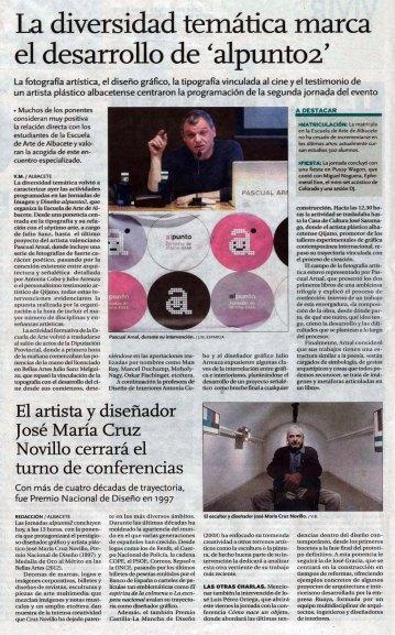 2014-03-28 - La Tribuna - Jornadas Alpunto2