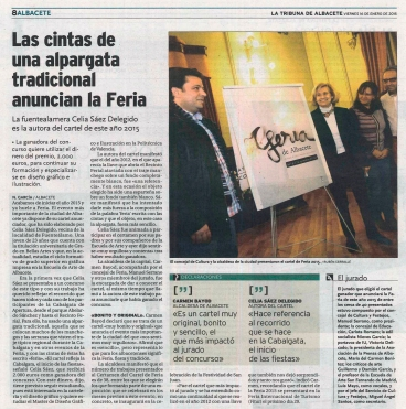 2015-01-16 - La Tribuna - La Feria ya tiene cartel - 2