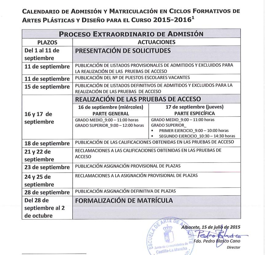 Calendario Ciclos Sep'15