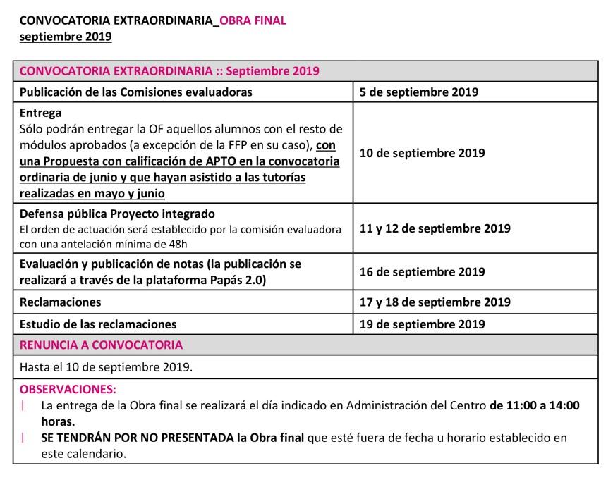 CALENDARIO MODIF OF_2ª FASE_18 19_Extraordinaria